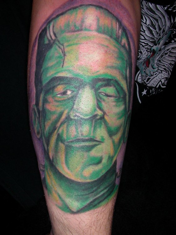 Tattoo Factory Chicago Bobby Sox Frankenstein Color